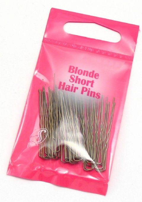 Serenade - Rounded Tip Wavey Hair Pins (Short (1.75inch/4.5cm) Pack of 36, Blonde